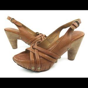 Frye Reese Multi Sling 8.5M Clog Sandals Heels